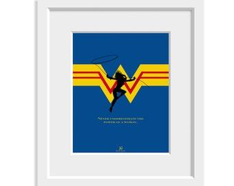 Wonder Woman Minimalist Poster, Digital Download