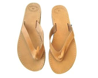 Womens sandals, Leather flip flops, Greek sandals, Leather sandals, Greek leather sandals, Brown leather sandals, Summer flats
