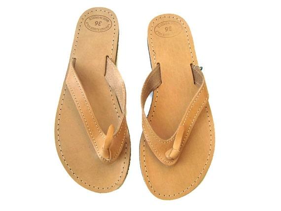 damen sandalen leder flip flops griechische sandalen. Black Bedroom Furniture Sets. Home Design Ideas