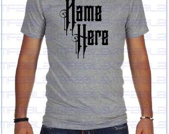 Last Name Grey Shirt