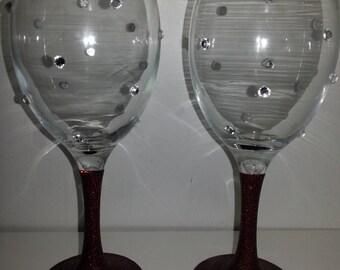 unique sparkle glasses