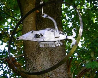 "Sculpture metal ""Flying fish"""