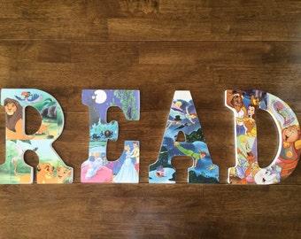 "Custom Handmade ""READ"" Book Letters"