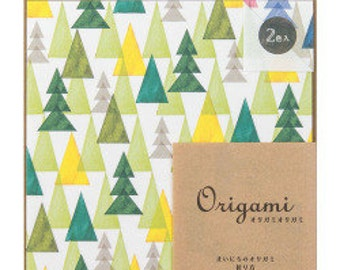 Origami kit, Origami paper, Origami paper sheets,  Midori, Japan origami, Origami paper pack, Water color Trees