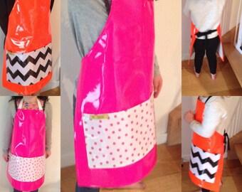 Kids Apron, aprons, cooking aprin, craft apron, apron, smock,