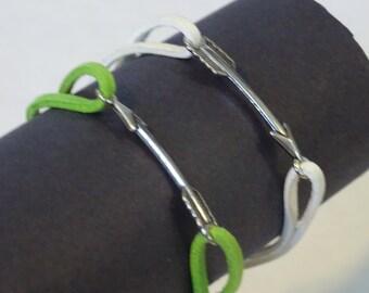 Suede lace and arrow charm bracelet