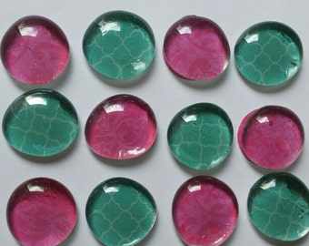 Turquoise and Pink Glass Bead magnets