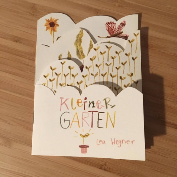 "Booklet with seeds ""Little garden"""
