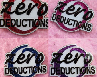 DEAL Of The WEEK  - Cheerleader Zero Deductions Pin - Available in 4 colours, Red, Blue, Pink, Purple -  Cheer Bow Trading Pin Badge