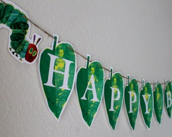 Hungry Caterpillar Leaf Banner