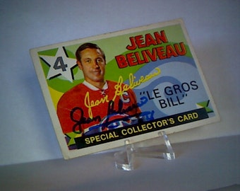 Hockey Card - Jean Beliveau Le Gros Bill - Certificate of Authenticity PSA/DNA