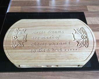 Hand carved cheeseboard