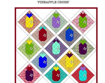 Pineapple Crush Quilt Pattern (Printed)