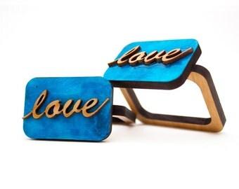 Love - Napkin Ring - Wooden