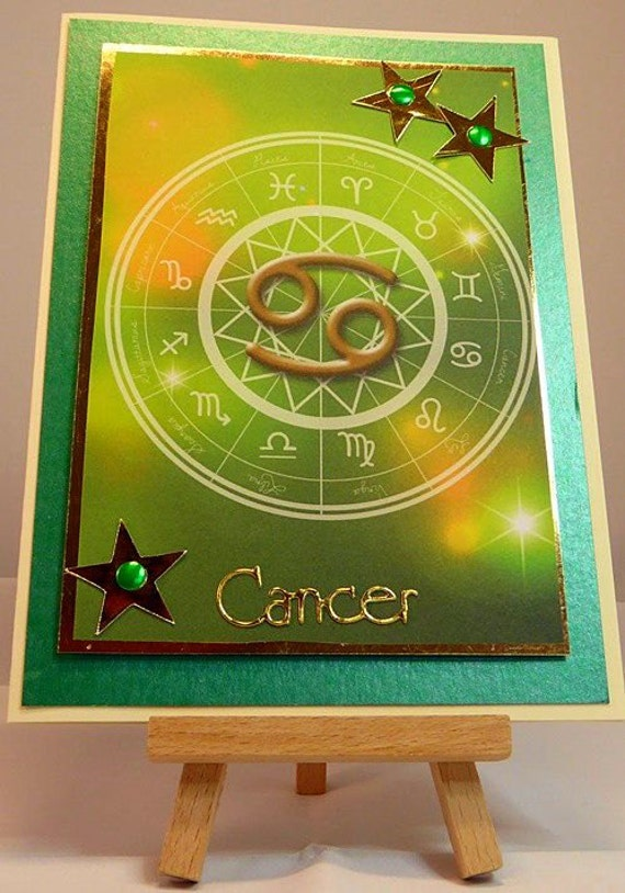 Cancer - Horoscope/Zodiac/Star Sign Handmade Birthday Card - Jun 21 to Jul 22 - luxury personalised unique quality special astrological UK