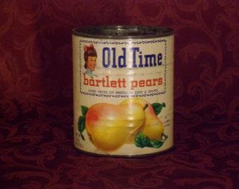 Vintage Old Time Barlett 29 oz Pear Can