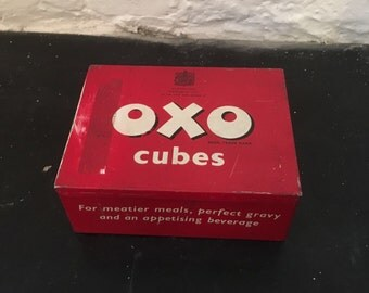 Vintage 1950s Oxo Cube Tin