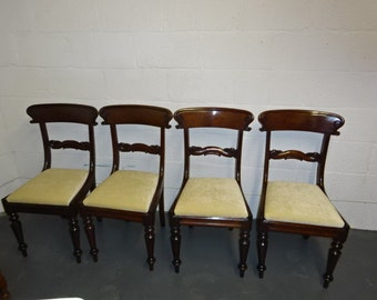 CHAIRS SALE****A set of 4 Antique Mahogany Georgian Dining Chair's Was 260.00 Reduced Price 240.00