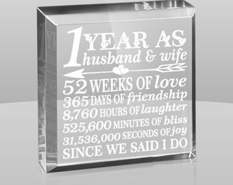 Wedding Anniversary Gifts For Husband In Sri Lanka : ... anniversary engraved paperweight keepsake 1st anniversary gift 24 50