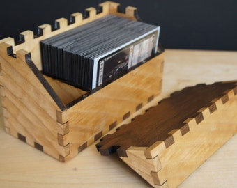 Hardwood Deck Box (100 Sleeved TCG Cards) Magnatised