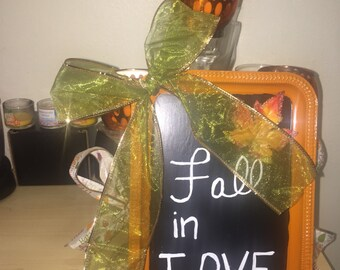 Decorative Fall in Love Tray
