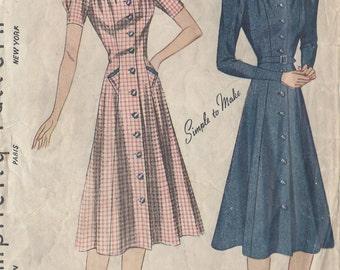 "1940s Vintage Sewing Pattern DRESS B34"" (24)"
