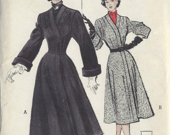 1949 Vintage Sewing Pattern B30 COAT (1371) Butterick 5518