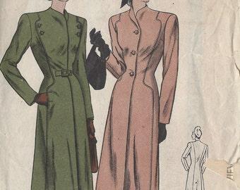 "1940s WW2 Vintage VOGUE Sewing Pattern B34"" COAT (1291) Vogue 5971"