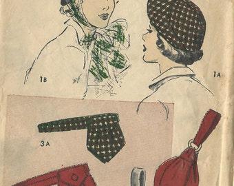 1940s Vintage Sewing Pattern HAT & BAG (R190) Advance 4990