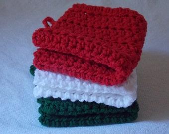 "100% Cotton Crochet Dishcloth  8"" X 8"""