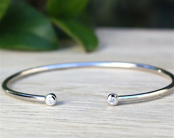 massive silver ring 925 bracelet and zircon