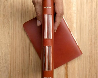 Hand Stitched Leather Recipe Notebook