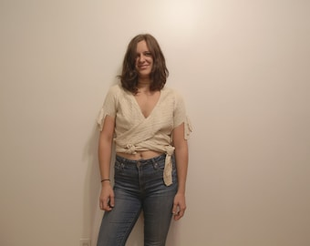 Very old vintage double wrap around shirt