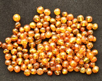 Baltic Amber modified polished baroque style beads PD-001