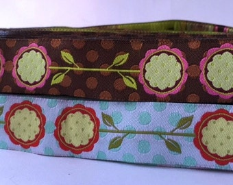 "7/8"" (23mm) Polka dot posey jacquard ribbon"