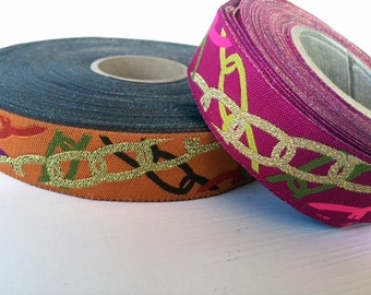 Beejewelled  jacquard ribbon