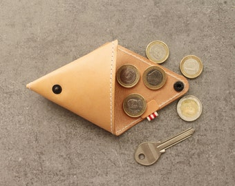 Triangle coin purse · natural