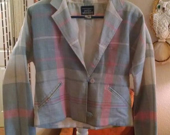 CLEARANCE 1970's pastel blazer. Reduced 10.00
