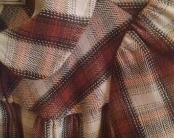 Vintage cropped plaid jacket