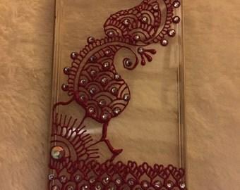 Red Henna Phone Case