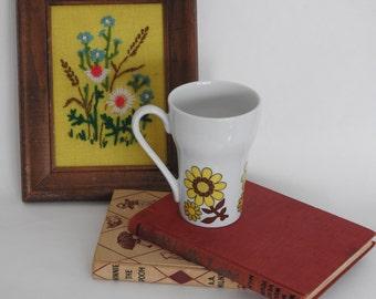 Vintage Daisy Mug- Japan- Retro Floral Mug