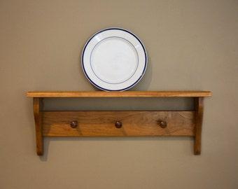 Custom Plate Shelf, Display shelf for your home, Shaker Peg Rack Shelf
