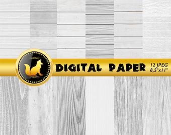 White Wood,White Background,White Boho Wood,Wood Digital Paper,Rustic Wood,White Scrapbook Paper,Wood Backdrop,Wood Background,Wood white