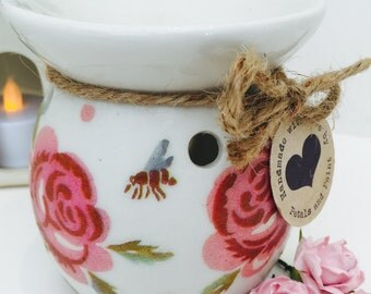 Handmade Emma Bridgewater Wax Oil Burner Rose and Bee