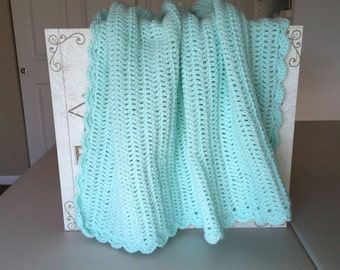 Double Crocheted Baby Afghan