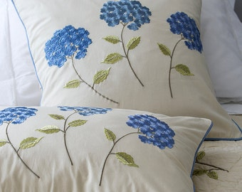 Set of Machine Embroidery Designs Hydrangea (7 in 1)
