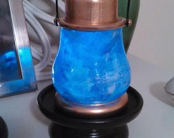 Super Glowy RGB Solar Lanterns. Glassware, Marbled,