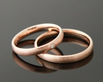 Wedding rings & I Rosè Gold 8 k or 14 k