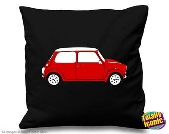 Red Mini Cooper Pillow Cushion Cover - Classic Mini Car