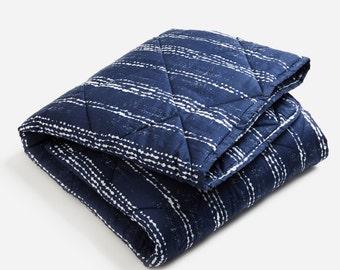 Organic Baby Quilt - Shibori